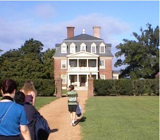 Walking up to the Shirley Plantation