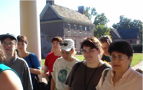 Group entering the Shirley Plantation